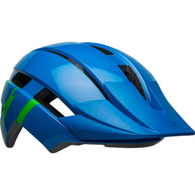 Bell Sidetrack II Helmet Youth strike gloss blue/green